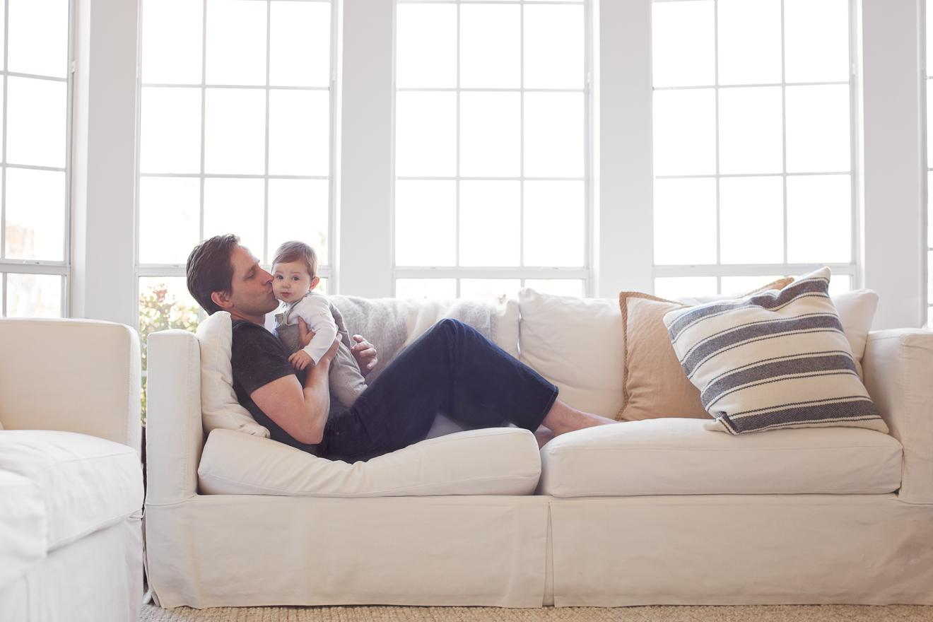 In home lifestyle session with 6 six month old baby in Southlake by Sunny Mays